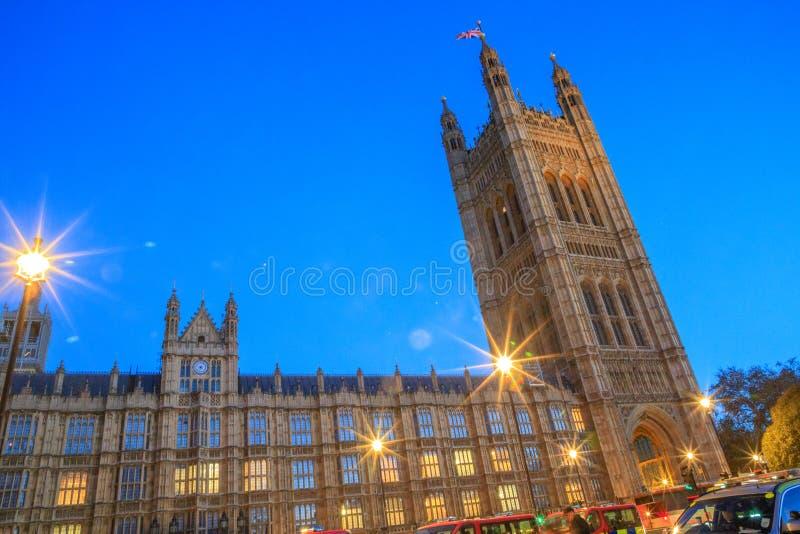 Wspaniali Historyczni budynki w Londyn: Pałac Westminister zdjęcie royalty free
