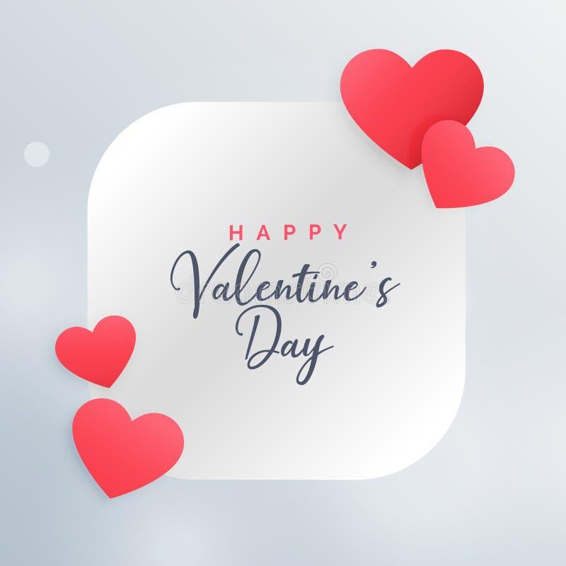 Wspaniali miłość serca obramiają pięknego valentine ` s dnia karcianego projekt ilustracji