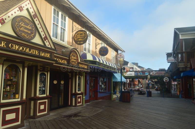 Wspaniali sklepy Przy molem 39 W San Fransisco Podróż wakacje Arquitecture obraz royalty free
