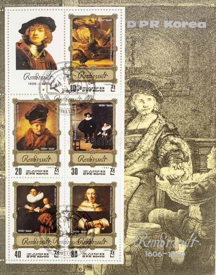 Wspaniali znaczki pocztowi royalty ilustracja