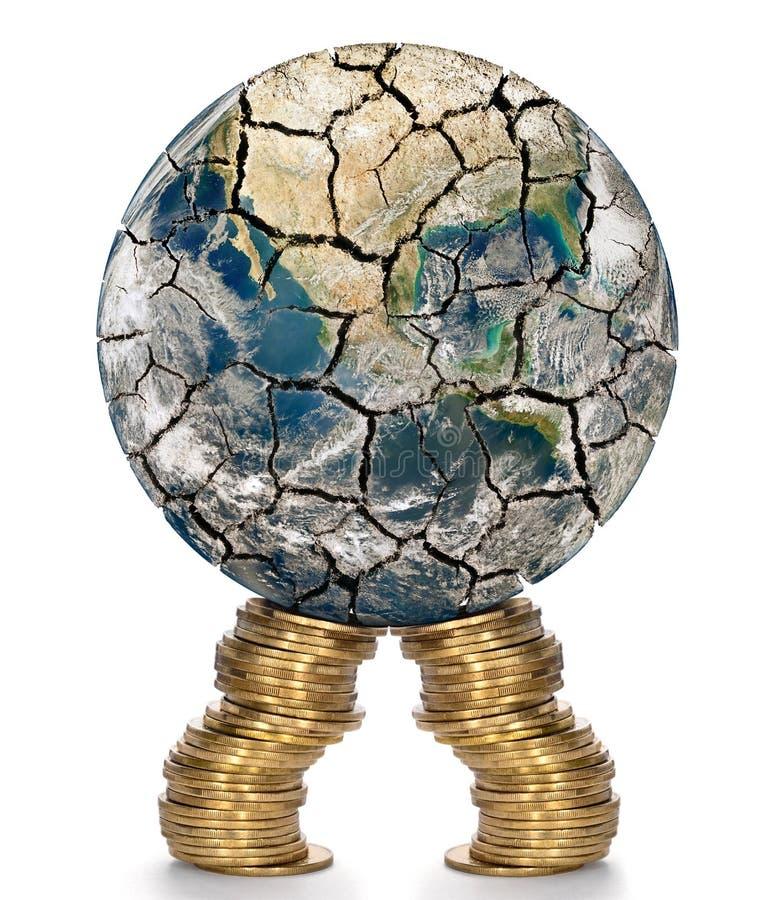 Wsparcie finansowe dla osłabionego gospodarka światowa royalty ilustracja