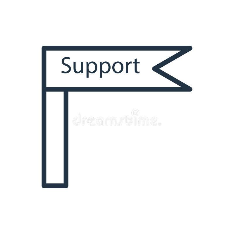 Wspiera ikona wektor odizolowywającego na białym tle, poparcie znak ilustracji