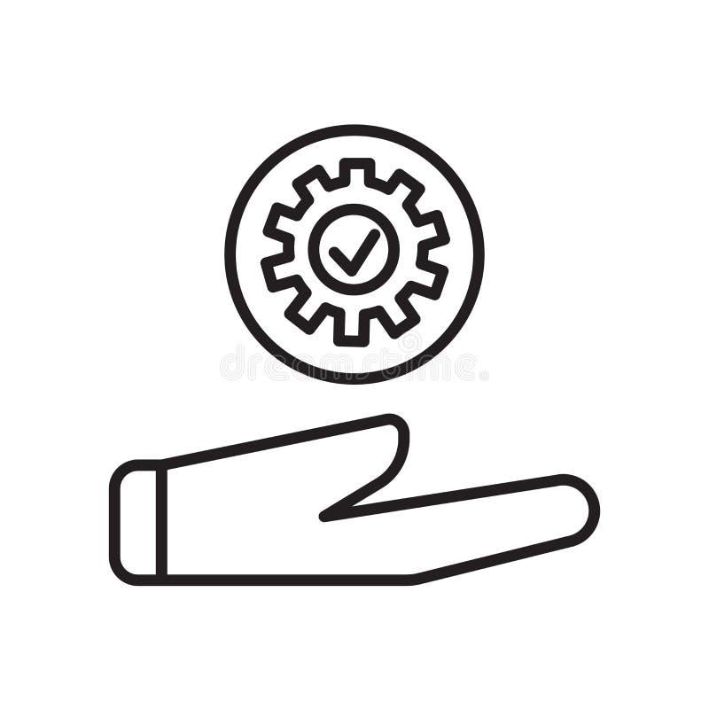 Wspiera ikona wektor odizolowywającego na białym tle, Wspiera znaka, znak i symbole w cienkim liniowym konturze projektują royalty ilustracja