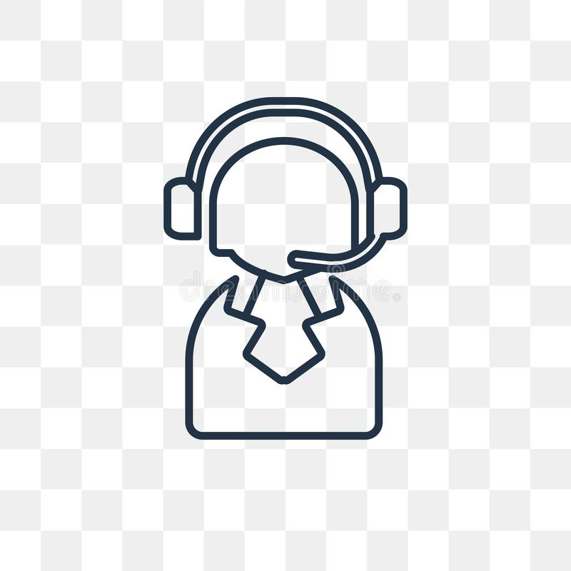 Wspiera wektorową ikonę odizolowywającą na przejrzystym tle, liniowy S ilustracji