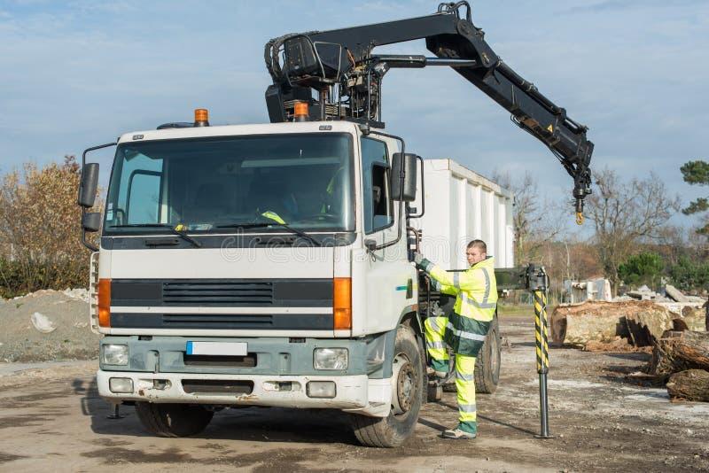 Wspinać się na ciężarówce zdjęcia royalty free