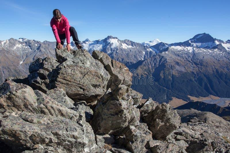 Wspinać Się W Górach Obraz Stock
