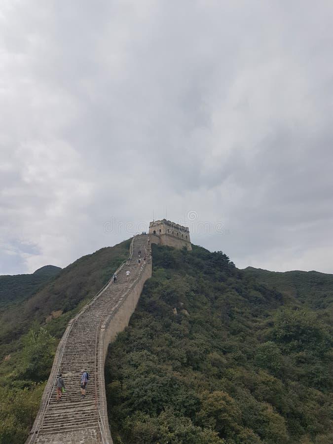 Wspinać się wielkiego mur Chiny zdjęcia stock