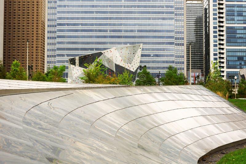 Wspinaczkowa ściana przy Maggie Daley parkiem w Chicago zdjęcie stock