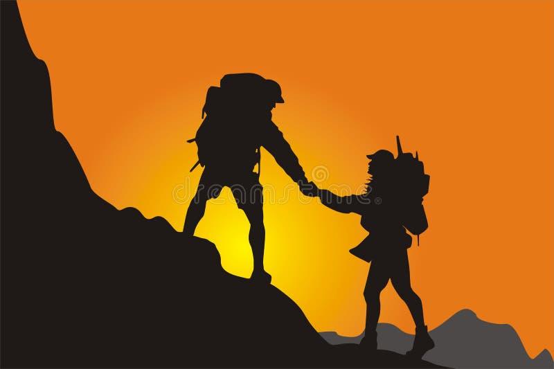 wspinaczkowa akwizytorki góra ilustracji