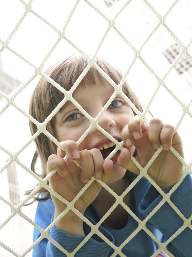 wspinaczkowej dziewczyny szczęśliwa mała sieć obraz royalty free