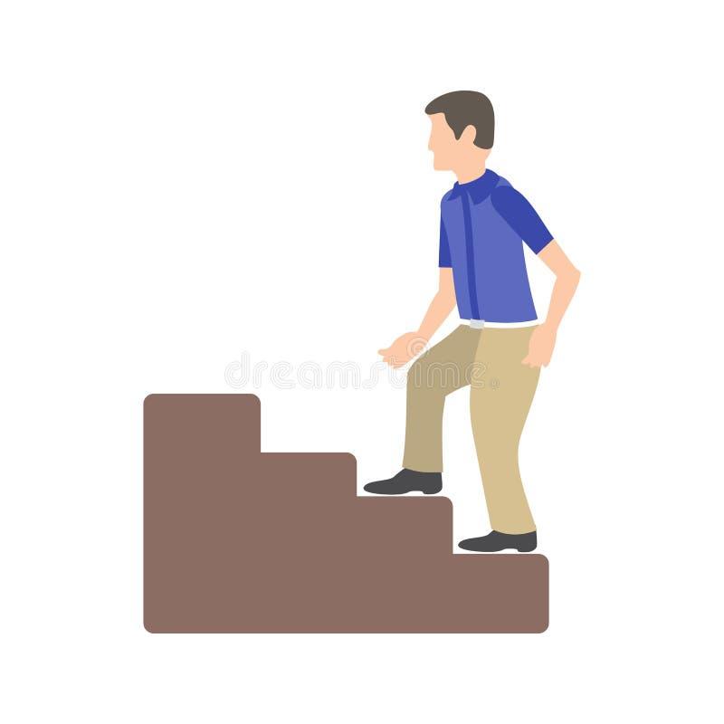 Wspinaczkowi schodki ilustracja wektor