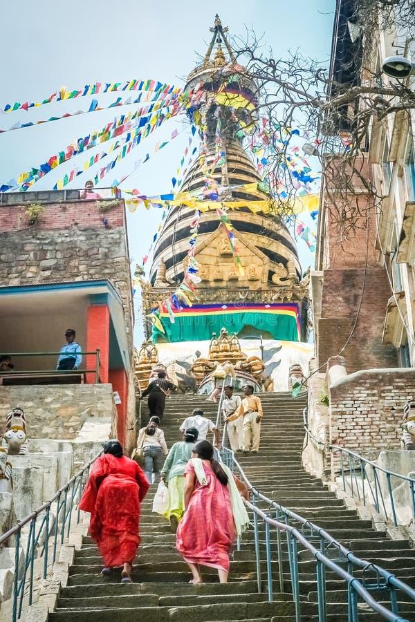 Wspinaczkowi schodki stupa zdjęcie stock