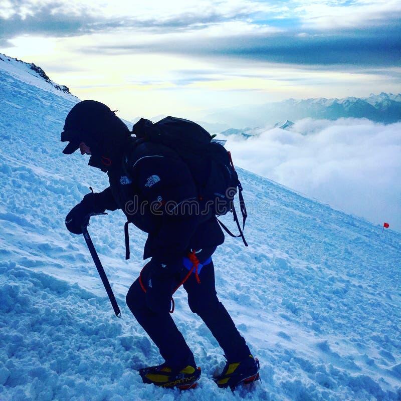 Wspinaczkowy halny Elbrus obrazy royalty free