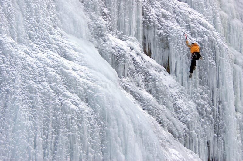 Wspinaczkowy icefall katedra - Sottoguda-Rocca Pietore zdjęcia royalty free