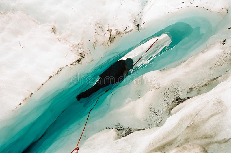 wspinaczkowy lodowy nowy Zealand fotografia stock