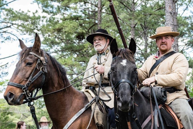 Wspinający się Konfederacyjni żołnierze obraz royalty free