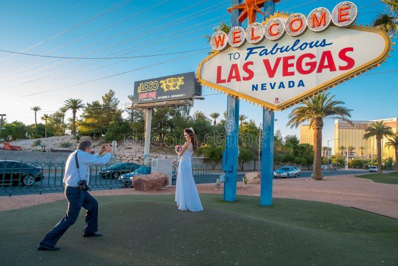 Wspominki Vegas ślub obraz royalty free