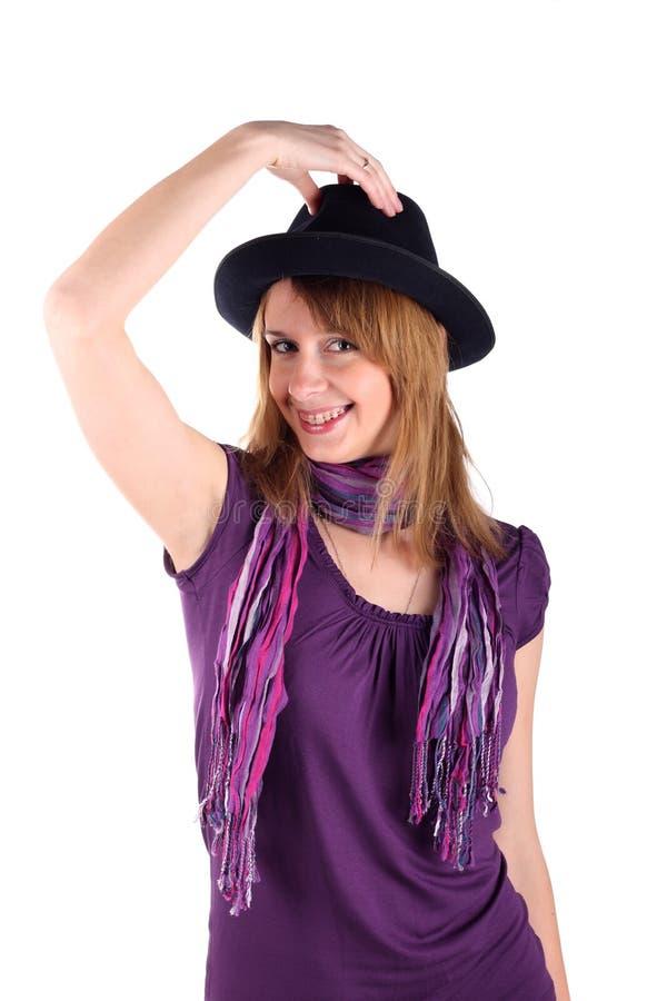 Download Wsporników Dziewczyny Kapelusz Obraz Stock - Obraz złożonej z piękno, dziewczyna: 13332741
