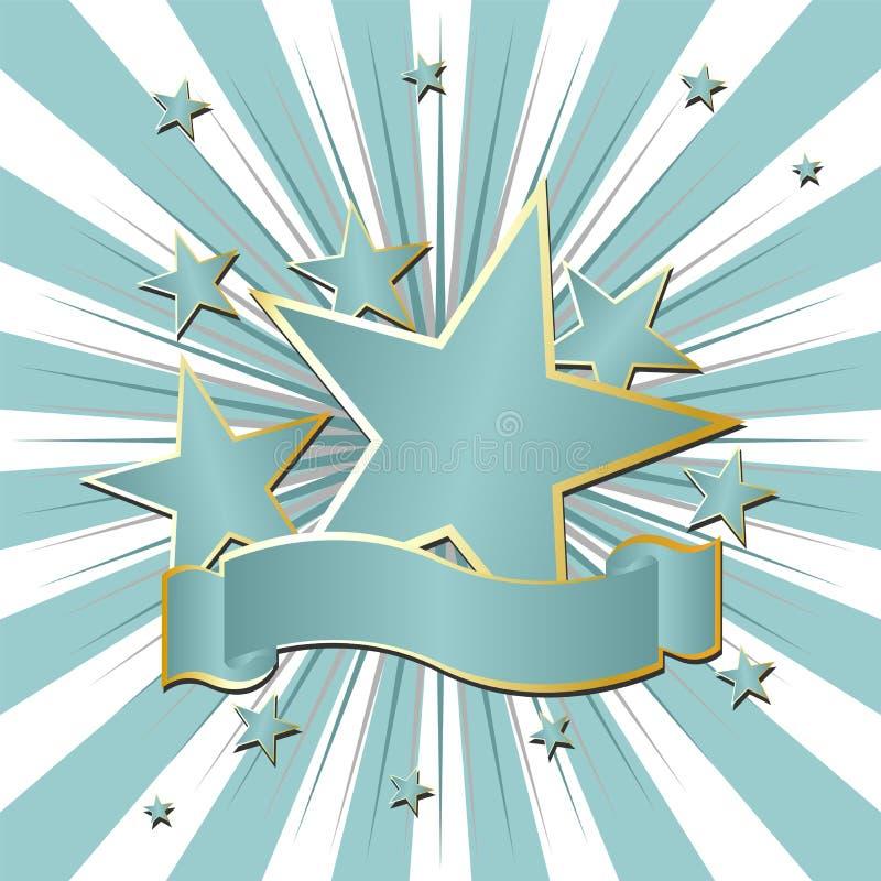 wstążka gwiazdy ilustracji