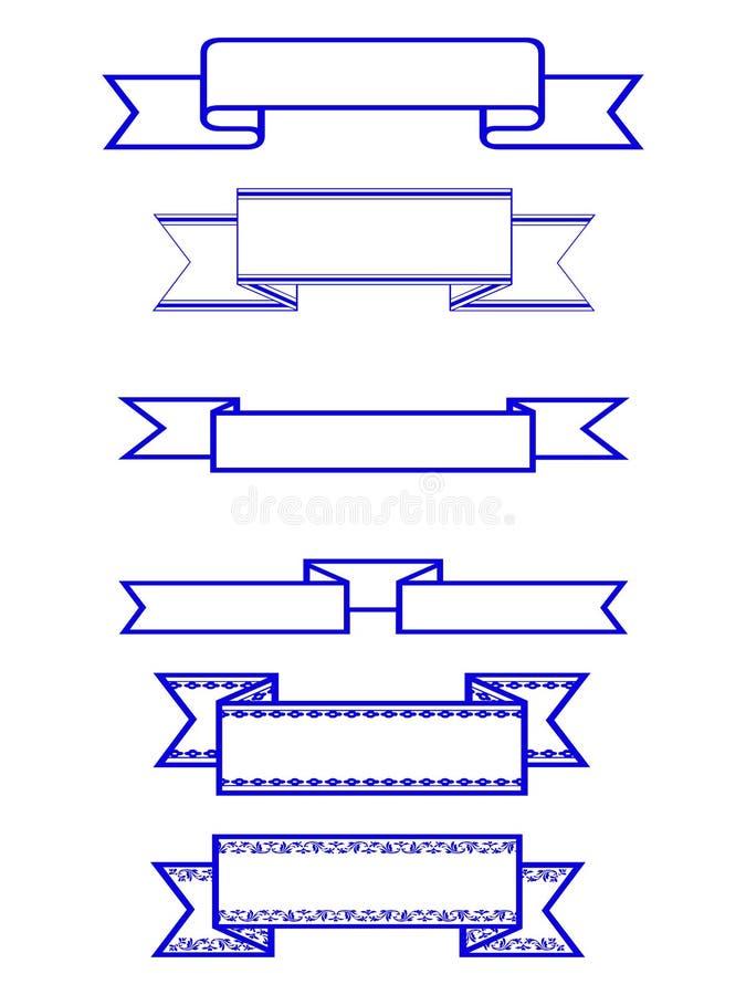wstążki ilustracja wektor