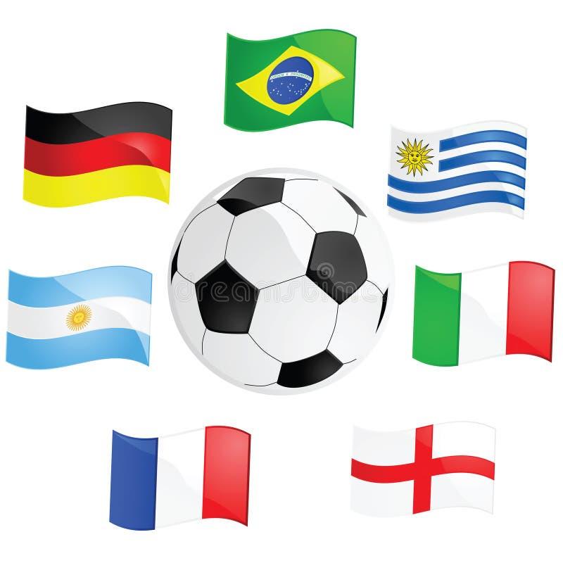 wstawia się piłkę nożną ilustracja wektor