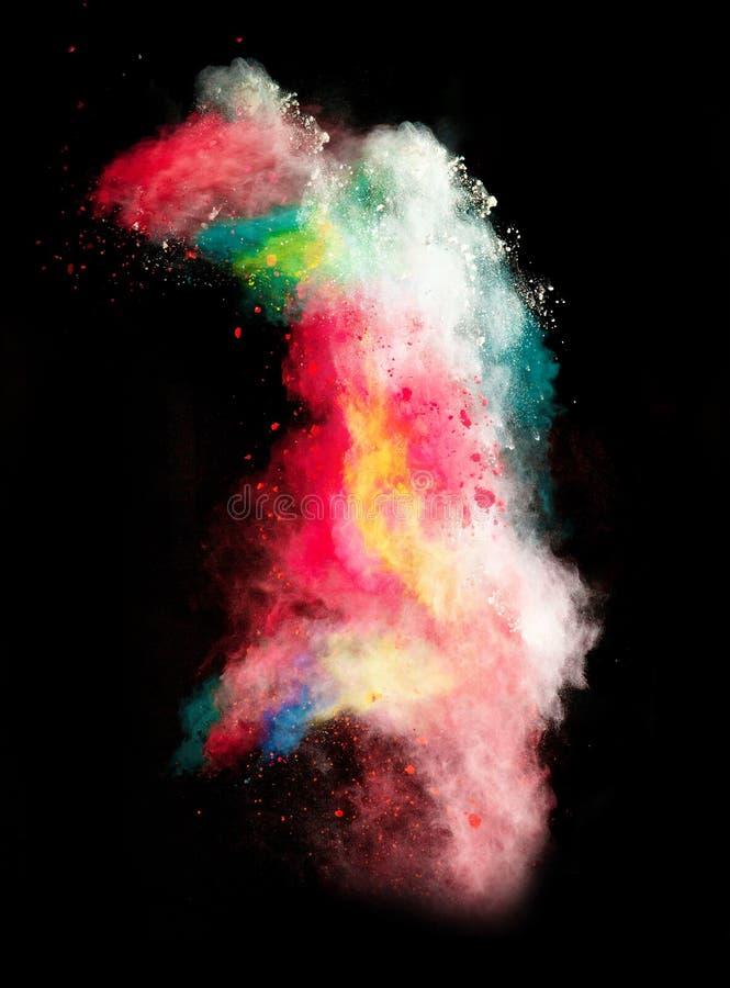 Wszczynający kolorowy proszek obraz royalty free