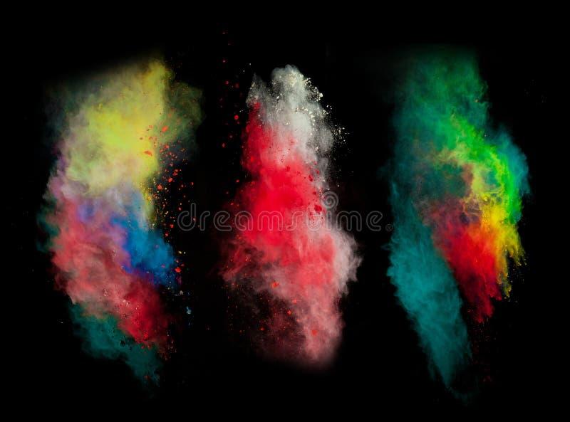 Wszczynający kolorowy proszek obrazy stock