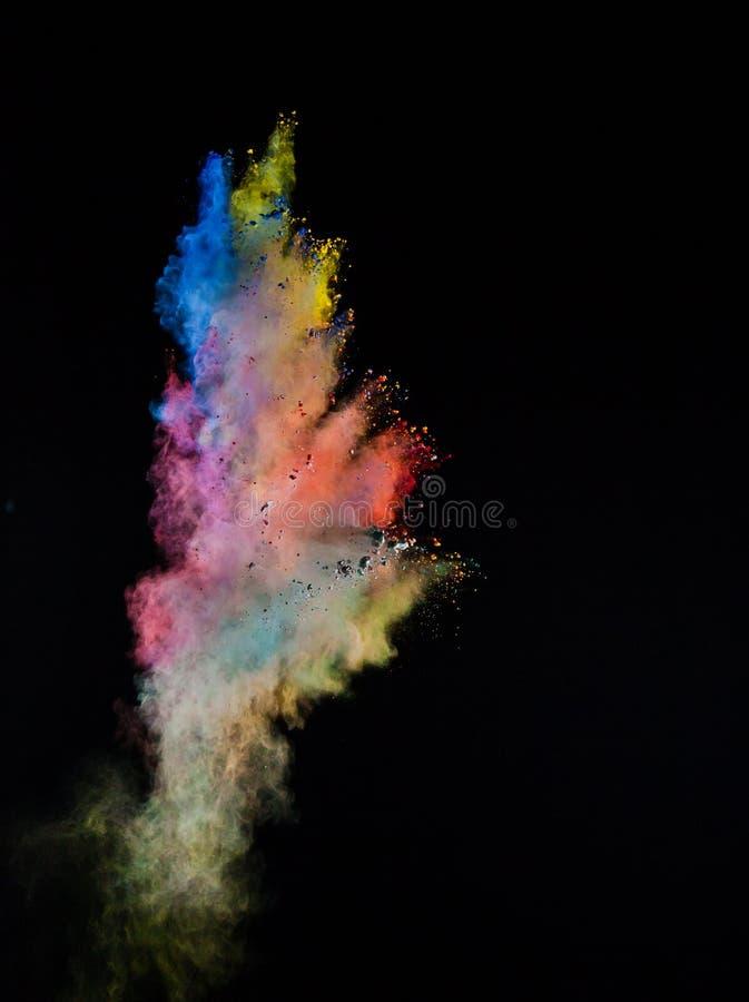 Wszczynający kolorowy proszek fotografia stock