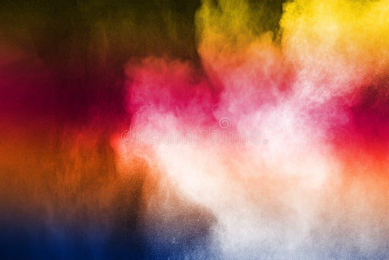 Wszczynający kolorowy proszek obrazy royalty free