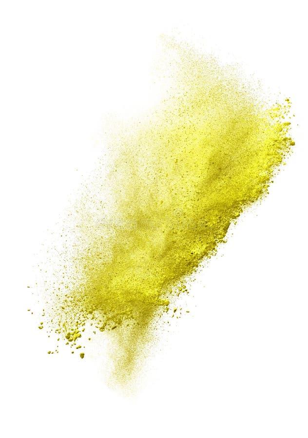 Wszczynający kolorowy proszek, odosobniony na bielu obraz stock