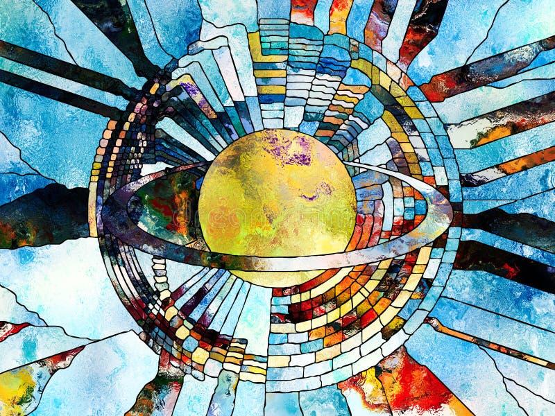 Wszechświat kolory royalty ilustracja