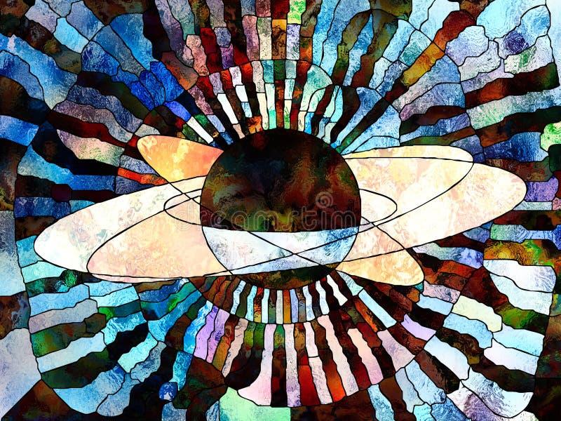 Wszechświat kolory ilustracja wektor