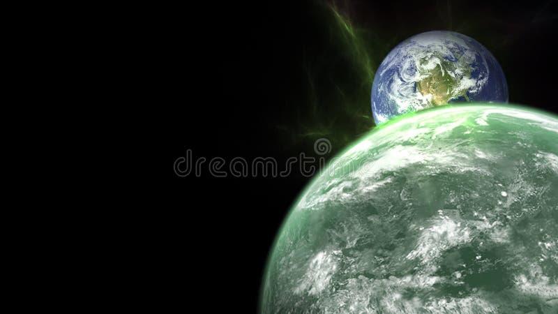 Wszechświat wszystkie istniejąca przestrzeń i sprawa rozważał jako całość kosmos obraz stock
