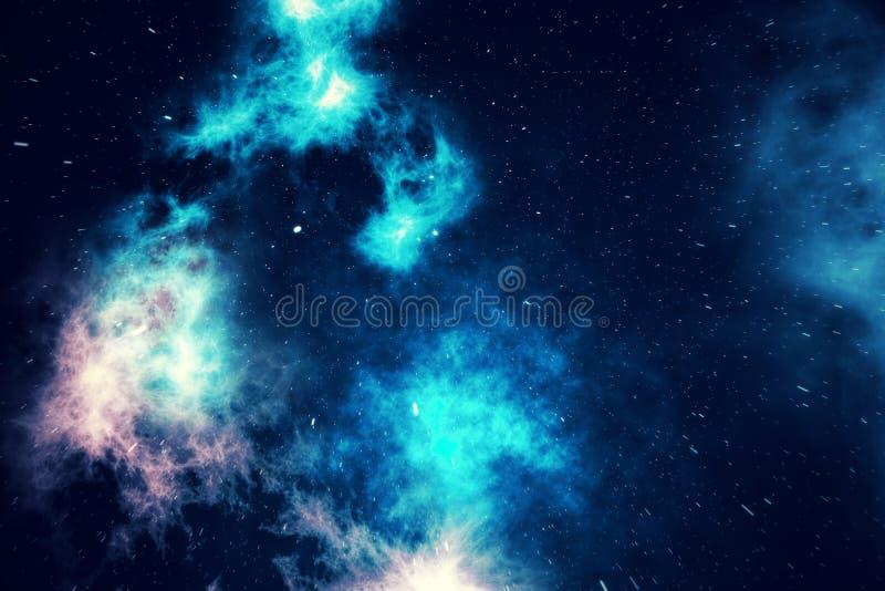 Wszechświat wypełniający z gwiazdami, mgławicą i galaxy, astronautyczny pył w wszechrzeczym, pięknym tle z gwiazdami, 3d renderin royalty ilustracja