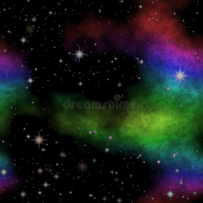 Wszechrzecza nocne niebo tekstura z dużo barwi ilustracji