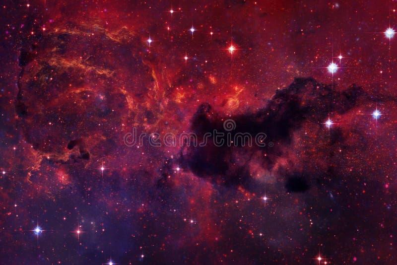 Wszechrzecza scena z gwiazdami i galaxies w głębokiej przestrzeni royalty ilustracja
