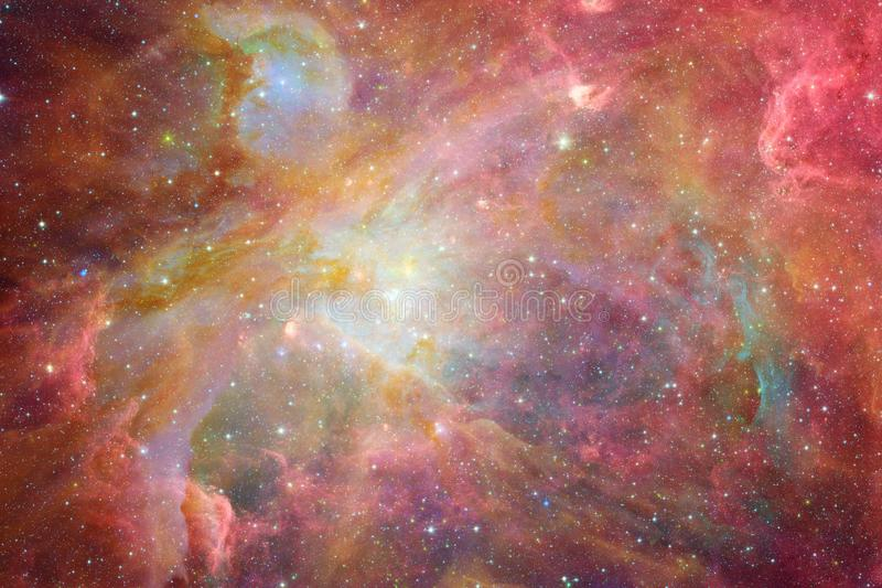 Wszechrzecza scena z gwiazdami i galaxies w g??bokiej przestrzeni ilustracji