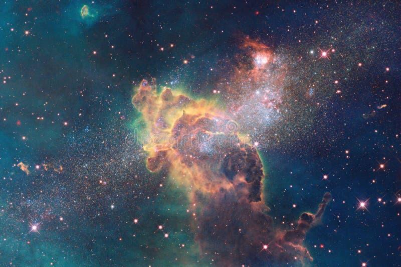 Wszechrzecza scena z jaskrawymi galaxies w głębokiej przestrzeni i gwiazdami royalty ilustracja