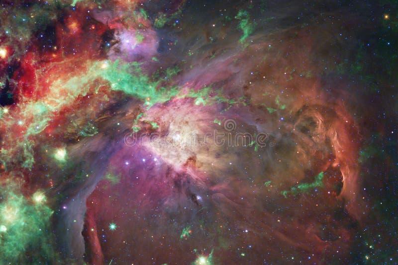Wszechrzecza scena z jaskrawymi galaxies w głębokiej przestrzeni i gwiazdami fotografia royalty free