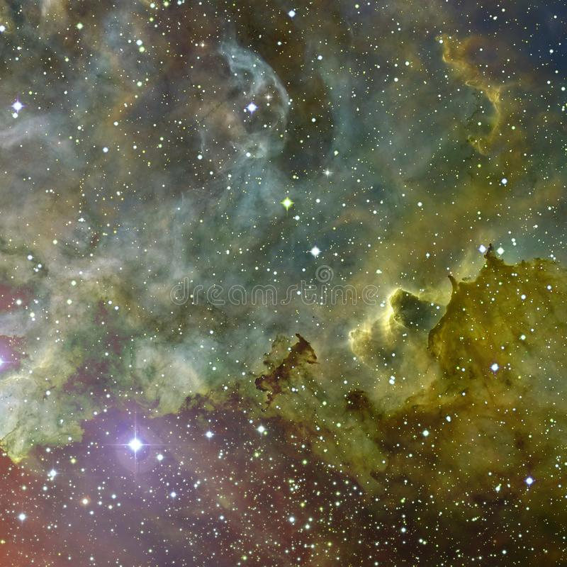 Wszechrzecza scena z planetami, gwiazdami i galaxies w kosmosie, obrazy royalty free
