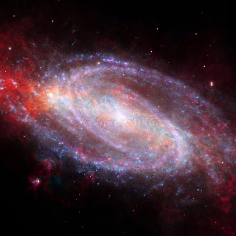 Wszechrzecza scena z planetami, gwiazdami i galaxies w kosmosie, ilustracji