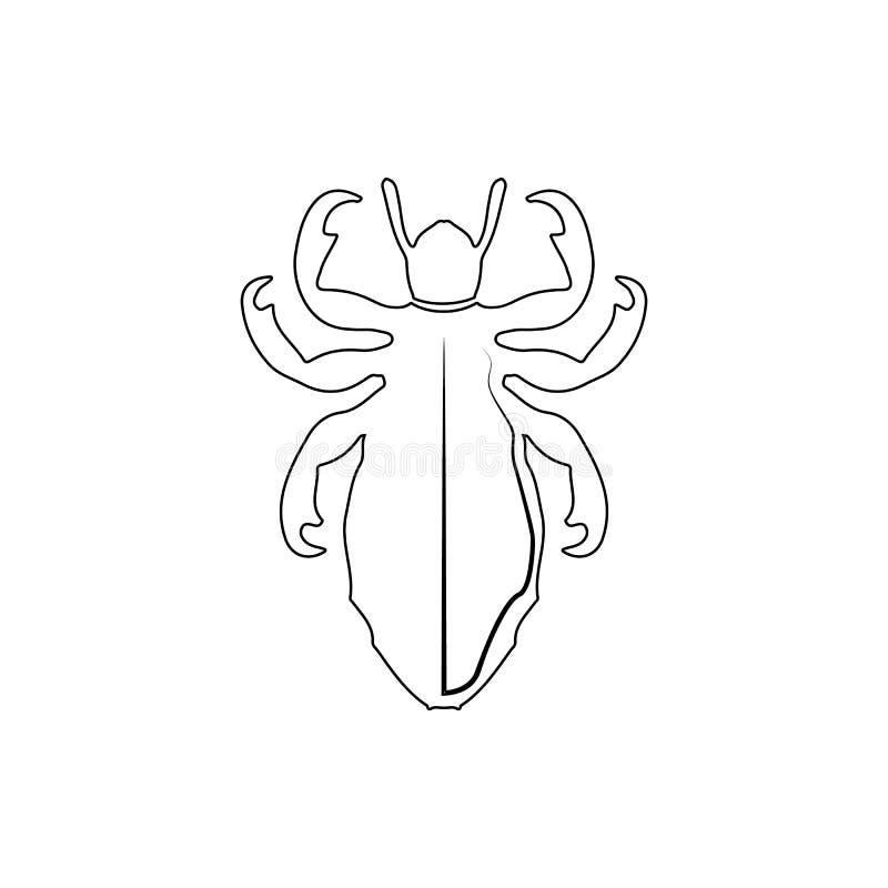Wszy ikona Element insekt dla mobilnego pojęcia i sieci apps ikony Cienka kreskowa ikona dla strona internetowa projekta i rozwoj royalty ilustracja