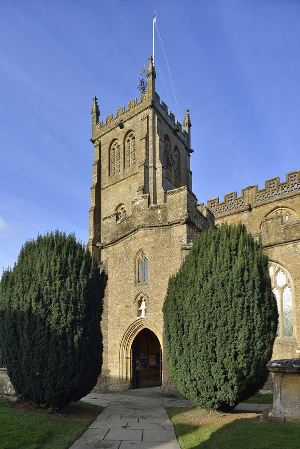 Wszystkie świętego kościół, Martock fotografia royalty free