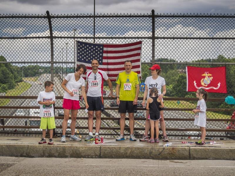 Wszystkie Amerykańskie rodziny na Lipu 4th zdjęcia stock