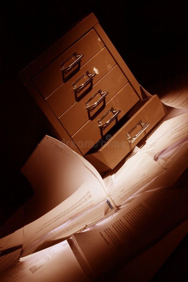 wszystkie dokumenty podsadzkowej gabinet piętro zdjęcie stock