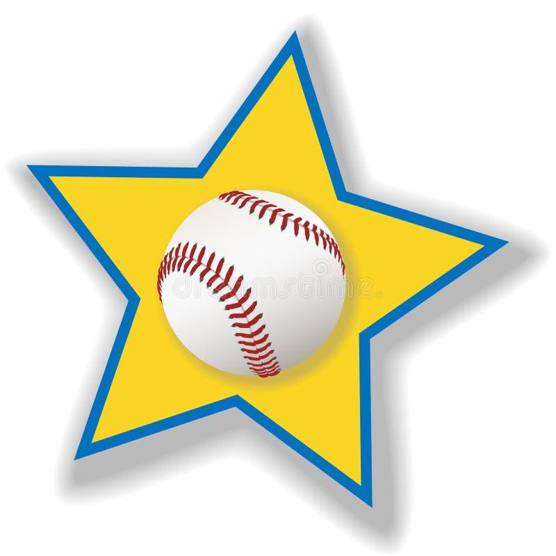 wszystkie gwiazdy w softball baseballu ilustracji