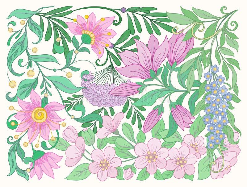 wszystkie jakaś składu elementów kwieciste ilustracyjne indywidualne przedmiotów skala rozmiaru tekstury wektor wiosna kwiat równ ilustracji