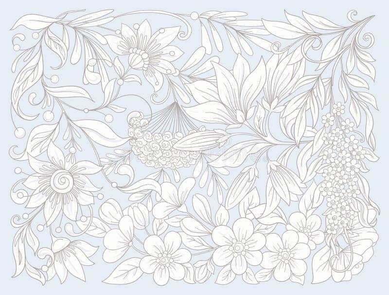 wszystkie jakaś składu elementów kwieciste ilustracyjne indywidualne przedmiotów skala rozmiaru tekstury wektor wiosna kwiat równ royalty ilustracja