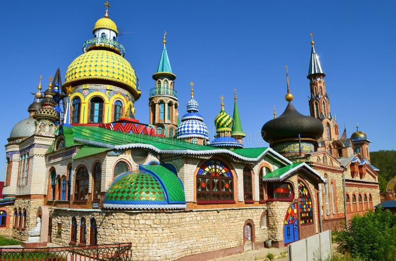 Wszystkie religie Świątynne w Kazan mieście, Rosja zdjęcie stock