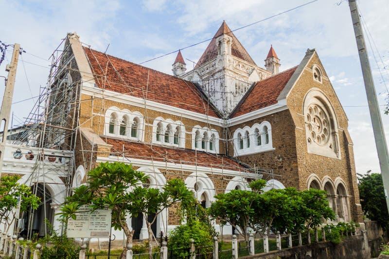 Wszystkie Saints kościół anglikański w Galle, Sri Lan obrazy royalty free